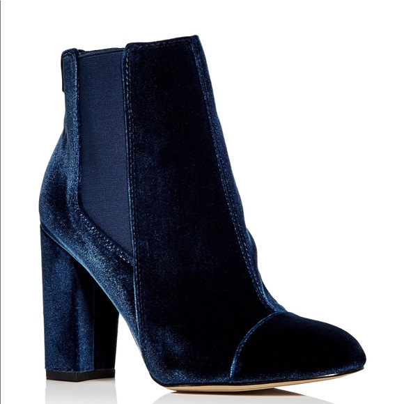 7f8970132017 Sam Edelman Case Sapphire Velvet Ankle Booties 9.5